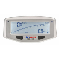 Acewell 1600 Motocycle LCD Digital Speedometer + Lap Timing - Powered by Internal Battery