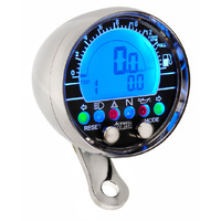 Acewell 2853CP Digital Speedometer with Polished Chrome Housing. Ideal for Cruisers and Customs