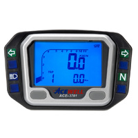 Acewell 3701 Digital Speedometer & Tachometer with Pilot lights