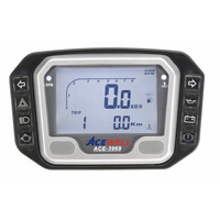 Acewell 3969 LCD Digital Speedometer with Temperature Gauge & additional Pilot Lamps