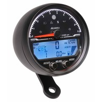 Acewell Digital Speedometer with Analogue Tacho 9000rpm Anodised Black body