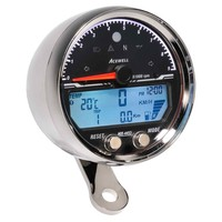 Acewell Digital Speedometer with Analogue Tacho to 9000rpm Chrome Housing