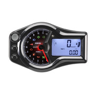 Acewell Motorcycle Sports Track Bike Speedometer & Analogue Tacho Temp 12000rpm