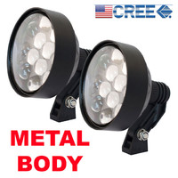 PAIR Lightforce style LED Driving Lamp BROAD Beam Roo Light Spotties 4x4 Offroad