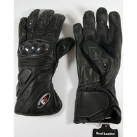 Full Leather Carbon Fibre Motorcycle gloves G161 Large