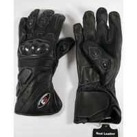 Full Leather Carbon Fibre Motorcycle gloves G161 Medium