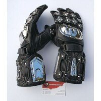 Excalibur Leather motorbike motorcycle gloves M