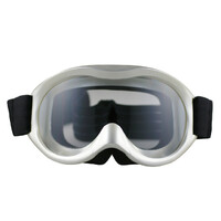 Kid Child Dirt Bike Motorcycle Motocross Goggles Silver