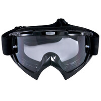 S3 Viper Black Dirt Bike Motorbike Motocross Goggles