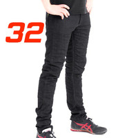 'Skinny Leg'  Motorcycle Motorbike Jeans Black Stretch Denim reinforced with protective lining Size 32