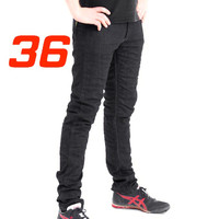 'Skinny Leg'  Motorcycle Motorbike Jeans Black Stretch Denim reinforced with protective lining Size 36