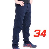 'Straight Leg'  Motorcycle Motorbike Jeans Blue Stretch Denim reinforced with Protective Lining Size 34