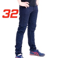 'Skinny Leg'  Motorcycle Motorbike Jeans Blue Stretch Denim reinforced with protective lining Size 32