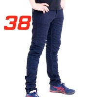 'Skinny Leg'  Motorcycle Motorbike Jeans Blue Stretch Denim reinforced with protective lining Size 38