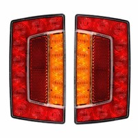 TWIN PACK Multi Voltage Submersible LED Stop, Tail Indicator Trailer Lamp Light