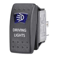 Sealed On/Off Rocker Switch with Blue LED Driving Light