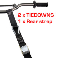Motorbike Motorcycle Dirt Bike Tiedowns Tie downs with BONUS rear tyre strap