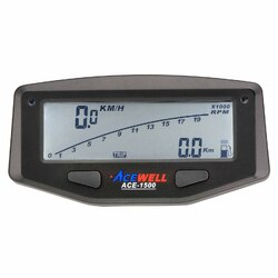 Acewell 1500 Motocross/Enduro Dirt Bike LCD Digital Speedometer - Powered by Internal Battery