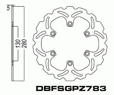 Front Brake Disc Kawasaki Zx1100 Gpz1100 Unitrack 83 85 83 85