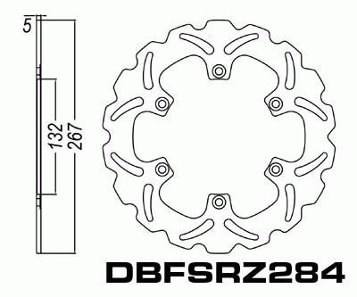 Rear Brake Disc Motorcycle Yamaha FZX700 Fazer 1986-1987