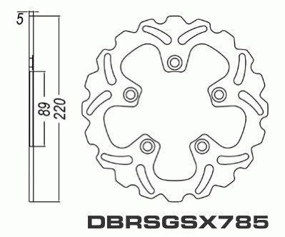 Rear Brake Disc Motorcycle Suzuki GSX-R600 GSXR600 2004