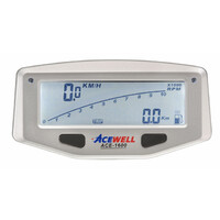 EX DEMO Acewell 1600 Motocycle LCD Digital Speedometer + Lap Timing - Powered by Internal Battery