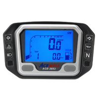 Acewell 3853 Digital Speedo & Tacho with Pilot Lights & Fuel Gauge