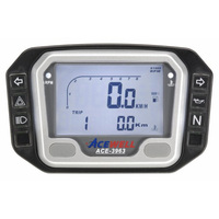 Speedometer with RPM and thermometer, plastic housing with 4-8 LED indicators