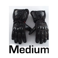 Winter Rage Full Leather Motorbike gloves Medium