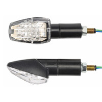 Black LED indicator with rubber neck mount