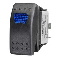 Sealed On/Off Rocker Switch with Blue LED
