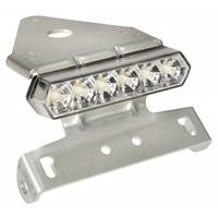 Aluminium LED stop/tail light + plate light + plate holder + indicator mount