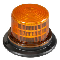 LED Warning Light (10cm high), 9-33V, bolt mount with switch in ImpactLED box. 143mm dia x 94mm high