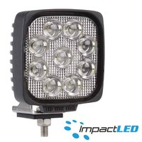 LED Work Lamp, 10-30V 27W Square