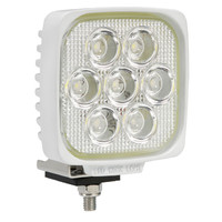 LED Work Lamp, 35W Square White body for boating