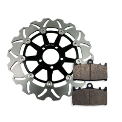 Front Brake Disc and Pads fits  Kawasaki ZX1100 ZZR1100  1990-1993 90-93